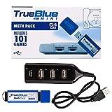 Seciie True Blue Mini Meth Pack für Playstation Classic mit 101 Spiele, 64G
