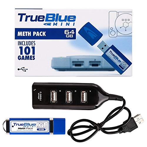 Rolanli True Blue Mini Crackhead Pack pour Playstation Classic - 64G, 101 Jeux