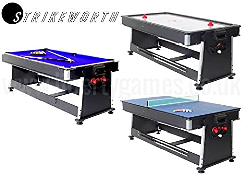 Strikeworth 7ft Multi Games Table with Blue