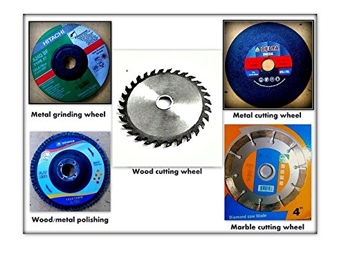 "COMBO offer OF 4 inches /110 mm wheel-GRINDING WHEEL,CUTTING WHEEL,POLISHING WHEEL 5 PCS suitable for 4"" Angle grinder,marble cutter"
