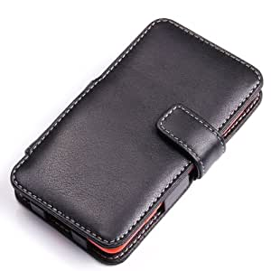 Nokia Lumia 625 Leather Case - Book Type (Black) by Pdair