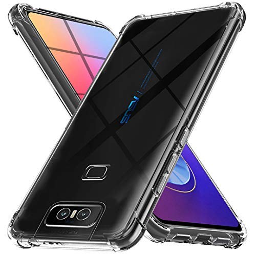 Ferilinso Cover for ASUS Zenfone 6 ZS630KL, Case Case Ultra Slim Scratch Resistant Silicone Protective Case Cover Case for ASUS Zenfone 6 ZS630KL Cover (Transparent)
