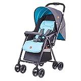 XUE Baby-Kinderwagen, Leuchtschirm kann Liegen Faltbare tragbaren Wagen einhändig Auto Mit 5-Punkt Sicherheitsgurt Multi-Positions-Liegen-Sort großen Lagerkorb sitzen
