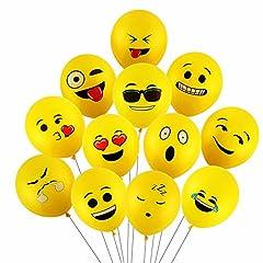 Idea Regalo - Yizhet 100 pezzi diversi palloni Emotion palloncini colorati misti palloncini smile decorazione vena di festa di Natale di compleanno di cerimonia nuziale Cerimonia festa compleanno bambini ecc
