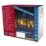 Konstsmide 4652-103 LED Hightech System Erweiterung / Lichtervorhang Eiszapfen / für Außen (IP44) /  50 warm weiße Dioden / transparentes Kabel