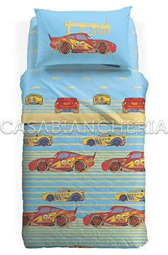 Copriletto trapuntato disney caleffi cars beach-1 piazza e mezza