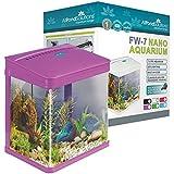 All Pond Solutions Nano Fisch Tank Aquarium/LED-Lichtern, klein, 7L, violett