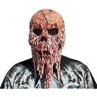HZJA Máscara De La Cabeza del Cráneo De La Navidad De Halloween, Terror Adulto del Látex Barra Divertida Baile Prom Vestir Adornos De Rendimiento Props Casa Embrujada Máscara De Cabeza Completa