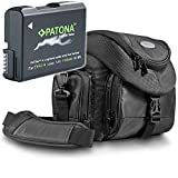 Kit Mantona Premium System Tasche mit Patona Premium Akku für Nikon EN-EL14 EN-EL14a - Intelligentes Akkusystem (echte 1100mAh)