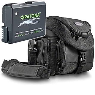 "Kit Mantona Premium System Tasche mit Patona Premium Akku für Nikon EN-EL14 EN-EL14a - Intelligentes Akkusystem (echte 1100mAh) ""neueste Generation"" (B003A4S28K) | Amazon price tracker / tracking, Amazon price history charts, Amazon price watches, Amazon price drop alerts"