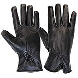 ALPIDEX Damen Lederhandschuhe Winterhandschuhe Echtleder Handschuh in verschiedenen Größen, Größe:M, Farbe:black