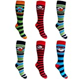 Kids WELLY SOCKS 6 Pair Pack – Boys or Girls in 4 Sizes (quality Welly Sox brand) Boys Icons UK 9-12