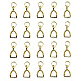 Imported 20pcs 10mm Golden Pendant Pinch...