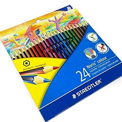 51K81OfNLfL. SS416  - Staedtler–Noris Color–24x Wopex–Lápices de colores y estuche a juego, 185C24