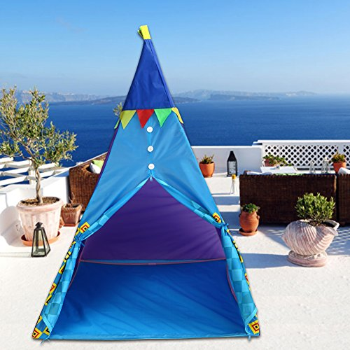 GOTOTOP Kinderzelt Outdoor & Indoor Kinder Zelte Spielzelt Spielhaus mit Zelt Lampen