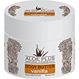 Body Butter - Body Moisturiser For Dry Skin -200ml - By AloePlus Natural Cosmetics - Provides Rich And Lasting Hydration - Restores Natural Moisture Of The Skin Leaving It Soft And Smooth (Vanilla)