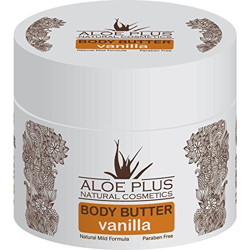 Aloe Plus Natural Body Butter - 200ml - Provides rich and lasting hydration - Restores natural moisture of the skin leaving it soft and smooth (Vanilla)