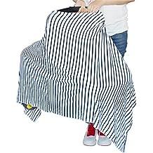 Nuevo diseño recién nacido Triángulo tipo blanco y negro para asiento de coche y funda para de lactancia, unisex ligero y transpirable toldo, protección de los niños