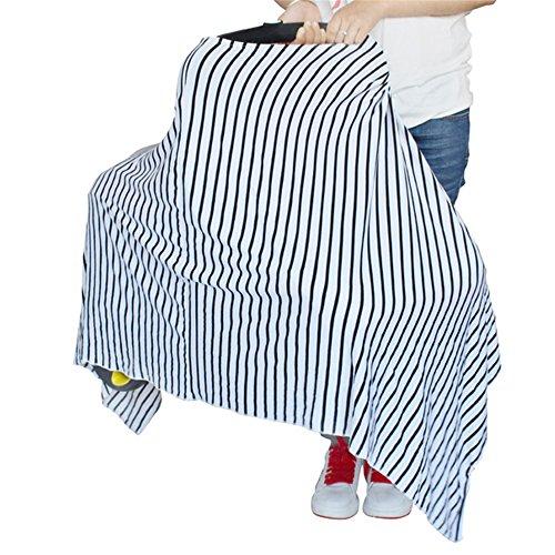 Neues Design Neugeborene Triangle Art weiß & schwarz Stilltuch Auto Sitz, Unisex Leicht und Atmungsaktiv Himmel, Schutz Kleinkinder (Auto Neugeborenen Sitzbezüge)