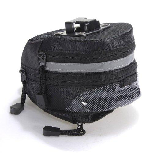 Dcolor Ciclismo bicicleta portatil bicicleta Saddle bolso de la bolsa trasera de la cola del asiento trasero del rack de almacenamiento - Negro