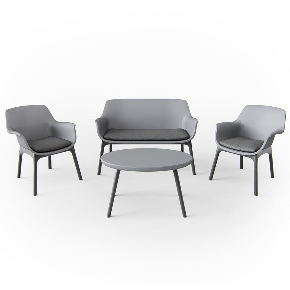 Oskar Gartenmöbel Lounge Set Sitzgarnitur Sitzgruppe Balkonmöbel