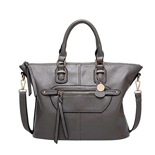Frauen-Art- Und Weiseschulter-Beutel PU-lederne Handtasche Grey