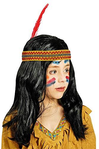 Körner Festartikel Peluca india niños diadema plumas