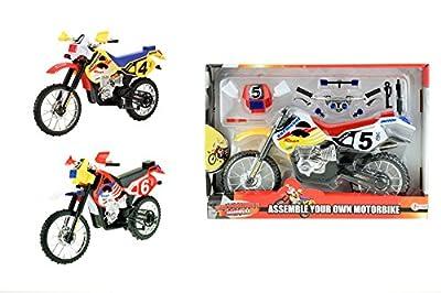toi-toys–Moto Selbstmontage 3-ass Fahrzeuge, 29044z, Mehrfarbig von Toi-Toys