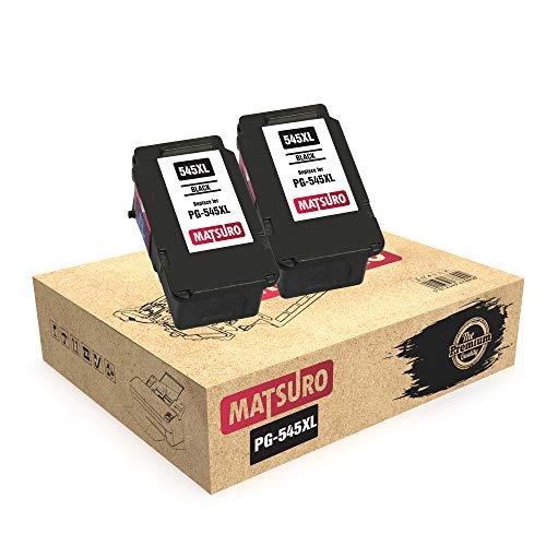 Matsuro Originale | Compatibili Remanufactured Cartucce Sostituire Per CANON PG-545XL PG-545 (2 NERO)