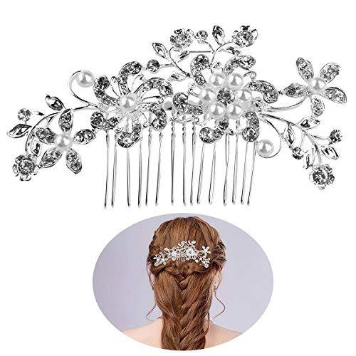 Tinksky Perles Bridal Party décor fleur en épingle à cheveux de mariage