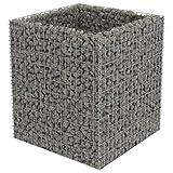 90×90×100 cm Gabione Pflanzenkorb Stahl | befüllbare Steinkörbe |eckige Gabionenkörbe | für Stützmauern Gartenzaun Gabionenwand Mauer Säule verzinkt