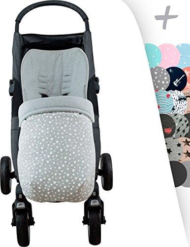 Sacco per Baby jogger City Mini, Joolz, impermeabilizzato janabebé  (WHITE STAR, COTONE)