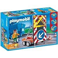 Playmobil 4049 - Vehículo con Señales Luminosas, Juguete A partir de 4 Años