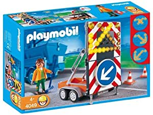 Playmobil - 4049 - Agent routier et Signialisation Lumineuse