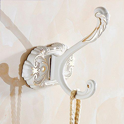 Hlluya Handtuchhalter Haken der Farbstreifen Haken Handtuchhaken Bad Haken an der Wand Kleiderbügel weiß Kleiderhaken Tür Haken, luxuriösen Einzel Haken -