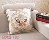 Home Sofa Car Decoration Ornament Hold Throw Pillow Cushion Christmas Valentine Gift European-style sofa cushion fashion embroidery pillow car back pillow ,48*48,Yellow a