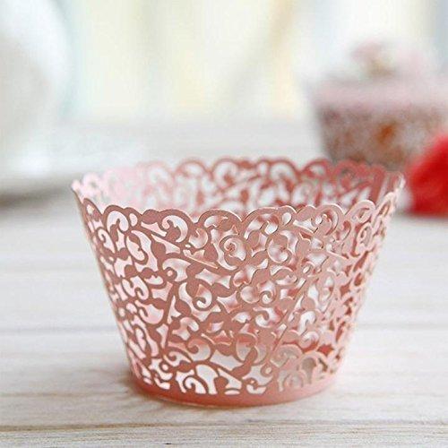 Papier Cup Little Vine Lace 50Cup Cake Cupcake Wrapper-, Papier Cup Wrapping Cupcake Wrap für Hochzeit Geburtstag Feiern Baby Dusche Dekoration
