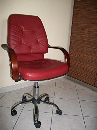 Italfrom poltrona sedia ufficio direzionale real bordeaux pelle sintetica cod.2023