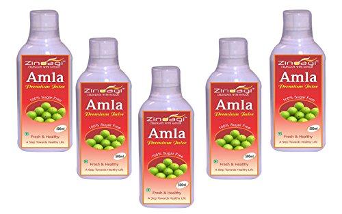 Zindagi Pure Amla Juice - Best Energy Drink In Summer - Sugar-free Amla Health Drink (Special Sale Offer Buy 4 Get 1 Free)