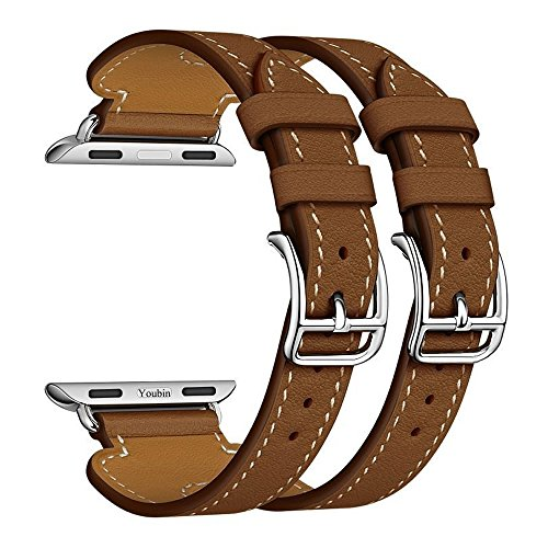 Per Apple Watch Band Serie 1 Serie 2, doppia fibbia polsino in pelle cinturino di ricambio per Apple Watch, serie 2 & # xFF08; 2016 & # xFF09; e serie 1 & # xFF08; 2015 & # xFF09;