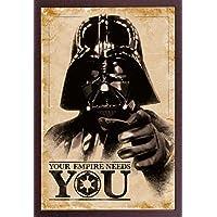 Empire Interactive Póster de Star Wars (con Artículo Adicional), Diseño de Darth con Texto Your Empire Needs You