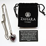 Zahara Pet Memorial Urn Necklace (20 Inches) with Velvet Pouch & Funnel | Angel Heart Amethyst Pendant + Chain 10