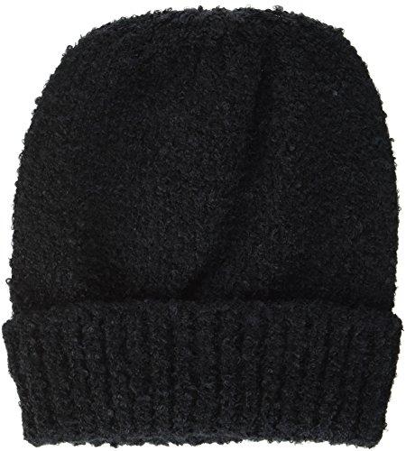ICHI Damen A BEA Hood Strickmütze, Schwarz (Black 10011), One Size