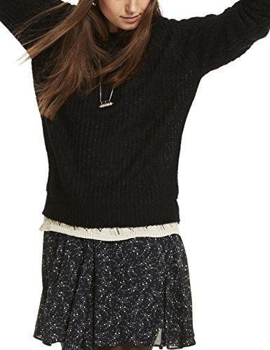 Maison Scotch Fluffy Crew Neck Pullover Knit, Felpa Donna, Blu (Nave 04), XS^S