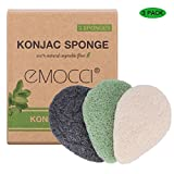 Konjac Facial Sponge Natural Activated Bamboo Charcoal Face Cleansing Exfoliating Sensitive Skin Body