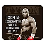 Tapis de Souris Discipline Mike Tyson Boxer Citation Inspirante Anglais Motivation