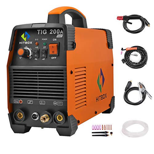 Máquina de soldadura TIG portátil de 200 amperios de alta frecuencia 220 V TIG MMA 200 con soldadora de inversor TIG IGBT HITBOX