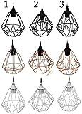 Retro Lampe VINTAGE - Designer Metall Deckenleuchte E27 Sockel - Hängelampe Weiß Variante 2