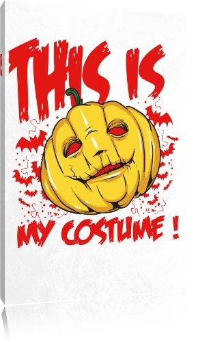 Abstrakte Halloween Kunst Kostüm (My costume white Bild auf Leinwand, XXL riesige Bilder fertig gerahmt mit Keilrahmen, Kunstdruck auf Wandbild mit Rahmen, gänstiger als Gemälde oder Ölbild, kein Poster oder)