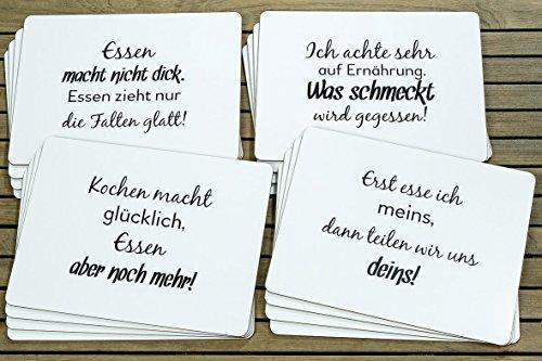 1 x Tischset Cena 4-teilig materialmix weiß 40 x 30 cm, Falten, Essen, Küche, Esstisch, Kochen, Ernährung, teilen (Erst esse ich meins…)